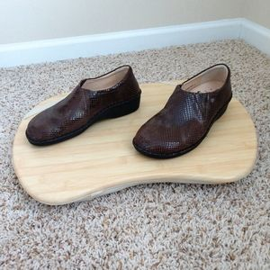 Finn Comfort Shoes Brown Clogs Size 38
